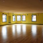 Upstairs studio, beautiful new hardwood floors.